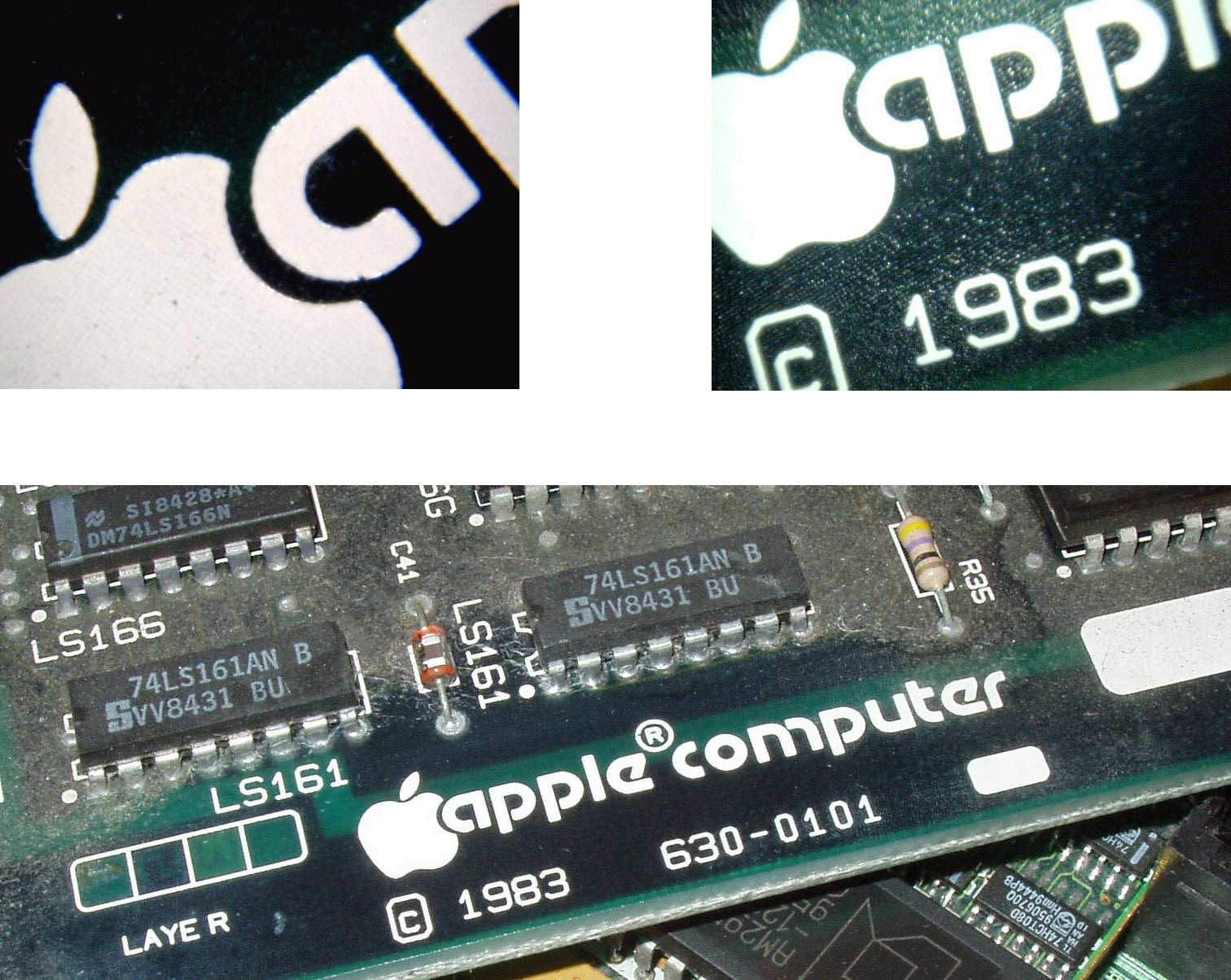 Apples Pcbs Layerprintedcircuitboardpcbproductionjpg The High Resolution Silkscreen Printing On Board Would Have Been State Of Art For Pcb Production In 1983 Many Apple Collectors And Enthusiasts